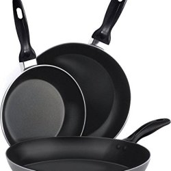 Aluminum Nonstick Frying Pan Set - (3-Piece 8 Inches, 9.5 Inches, 11 Inches)