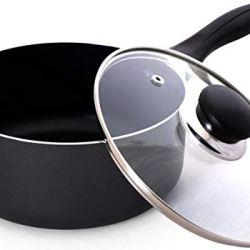 Utopia Kitchen 2 Quart Nonstick Saucepan with Glass Lid
