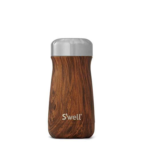 S'well Stainless Steel Travel Mug, 12oz, Teakwood