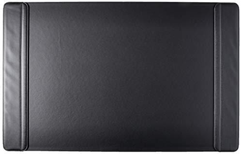 "Artistic 24"" x 38"" Sagamore Executive Desk Pad with Padded Flip Side Rails, Black (5133-8-1)"