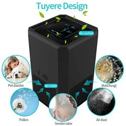 Keenstone Air Purifier for Home Allergies and Pets, 5 Speed, 3 in 1 True HEPA Filter Keenstone Air Purifier for Home Allergies and Pets, 5 Speed, 3 in 1 True HEPA Filter, Ultra Quiet Air Cleaner for Hairs Pet Dander Smokers Mold Pollen Dust PM 2.5, Perfect for Bedroom, Office.