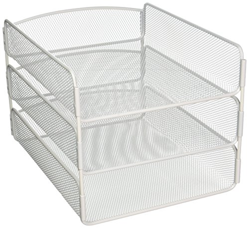 Safco Products Onyx Mesh 3 Tray Desktop Organizer 3271WH
