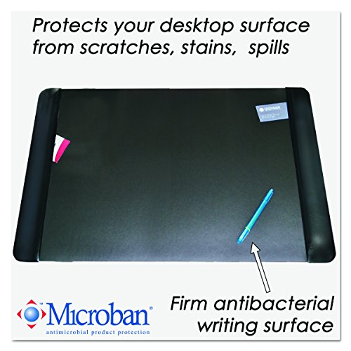 Artistic 413861 Executive Desk Pad with Leather-Like Side Panels, 36 x 20, Black
