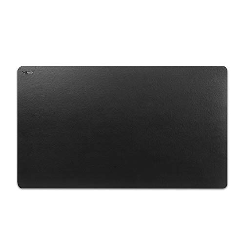 Nekmit Leather Desk Blotter Pad 36 x 20 Inches, Waterproof, Non-Slip, Black