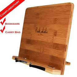 Bookaholic Bamboo Book Stand Cookbook Holder Book Rest