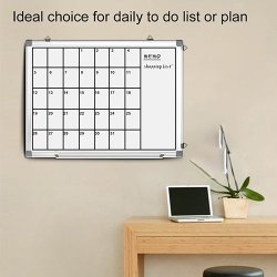 Magnetic White Board 24 x 18 Dry Erase Board Wall Hanging Whiteboard