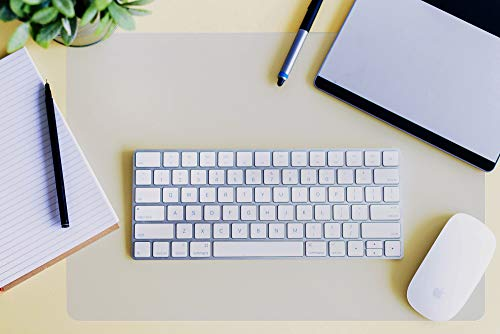 "Desktex Anti-Slip Desk Protector Mat, Superior Polycarbonate, Heat Resistant, Clear, 29"" x 59"" (FRDE2949RA)"