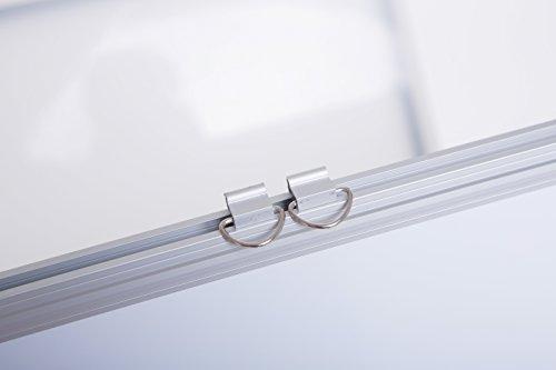 12 x 15 Magnetic Whiteboard Bundle, Heavy Duty Aluminum Frame