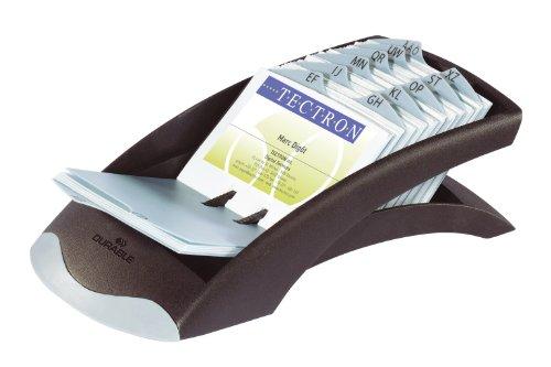 DURABLE VISIFIX Desk Business Card File, 100 Pockets, A-Z Guides