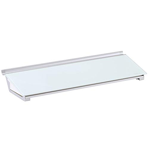 "Quartet Glass Whiteboard Desktop Computer Pad with Storage Drawer, 18"" x 6"", White Dry Erase Surface (GDP186)"