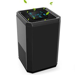 Keenstone Air Purifier for Home Allergies and Pets, 5 Speed, 3 in 1 True HEPA Filter, Ultra Quiet Air Cleaner for Hairs Pet Dander Smokers Mold Pollen Dust PM 2.5, Perfect for Bedroom, Office.