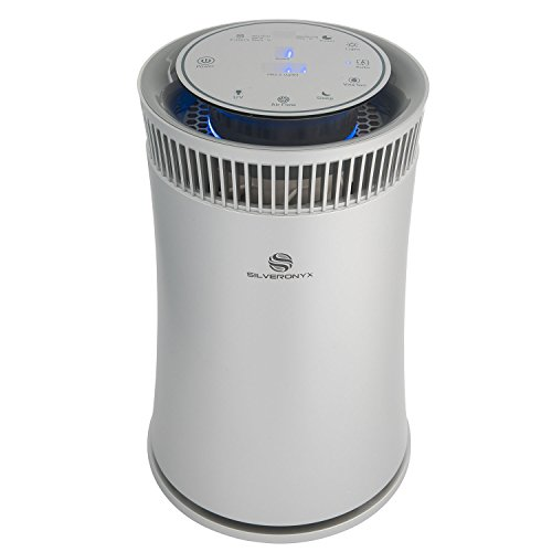 SilverOnyx Air Purifier with True HEPA Filter, Air Quality Monitor