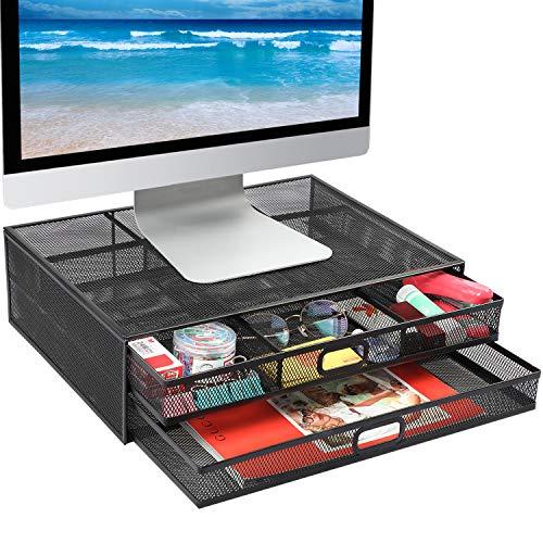 Monitor Stand Riser - Mesh Metal Desk Organizer PC, Laptop,Notebok