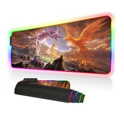 BigTech RGB Gaming Mouse Pad with 10 Lighting Modes Extended Mat Desk