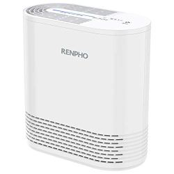 RENPHO Air Purifier for Home Allergies and Pets, Air Purifiers for Bedroom with True HEPA Filter, Air Cleaner for Smokers Office Child Room, Eliminates Allergens, Odors, Mold, Dust, Pet Dander, Smoke
