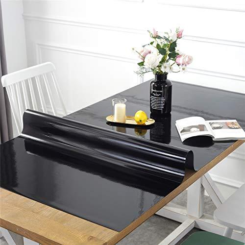 OstepDecor Custom Vinyl Black Desk Protector