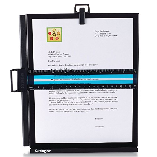 Kensington Metal Letter Size Copyholder with Line Guide