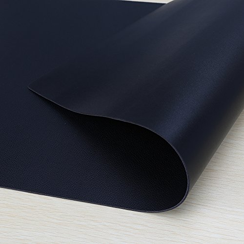 "KINGFOM Desk Mat Pad Blotter Protector 47.2"" x 23.6"" KINGFOM Desk Mat Pad Blotter Protector 47.2"" x 23.6"", PU Leather Desk Mat Laptop Keyboard Mouse Pad with Comfortable Writing Surface Waterproof (Black)"