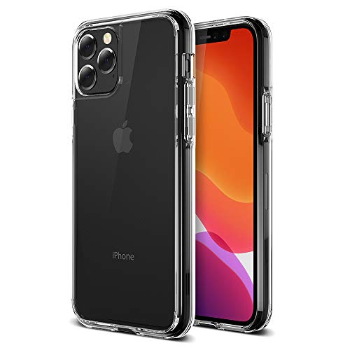 """Trianium Clarium Series Designed for Apple iPhone 11 Pro Case (2019, 5.8""""), TPU Cushion Frame Protection Case and Hybrid Rigid Backing Cover (Work with Most Screen Protector) - Clear"""