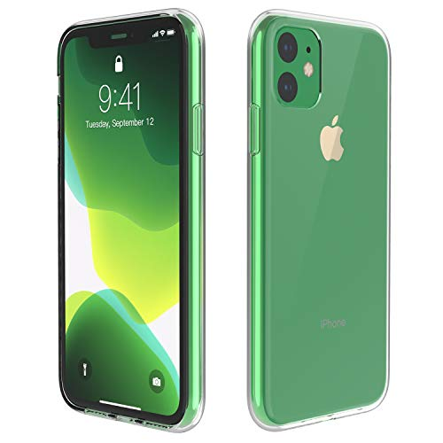 Temdan iPhone 11 Case, HD Clear Ultra Thin Slim Fit Soft TPU Protective Clear Case Shock-Absorption Anti-Scratch Compatible Cover Cases for iPhone 11 6.1 inch 2019-Clear