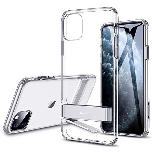 ESR Metal Kickstand Designed for iPhone 11 Pro Case, [Vertical and Horizontal Stand] [Reinforced Drop Protection] Flexible TPU Soft Back for iPhone 11 Pro (2019 Release), Clear