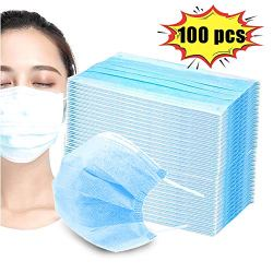 Disposable Face Masks with Elastic Earloop, 3 Ply Breathable and Comfortable Disposable Elastic Ear Loop for Blocking Dust Air Pollution Protection and Personal Health