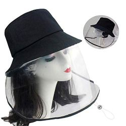 Protective Facial mask,Particulate Respirator,Anti-Spitting Splash hat. Isolation Anti-Pollution hat, Windproof Sand dustproof Windshield Fisherman hat