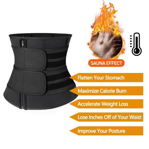 Steel Boned Waist Corset Trainer Sauna