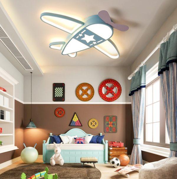 Plane Nordic kids bedroom Led ceiling lights