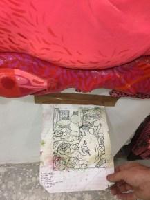 Prep drawings for paintings