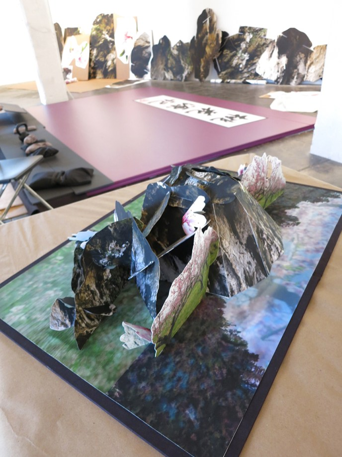 Model of the cave for the large book