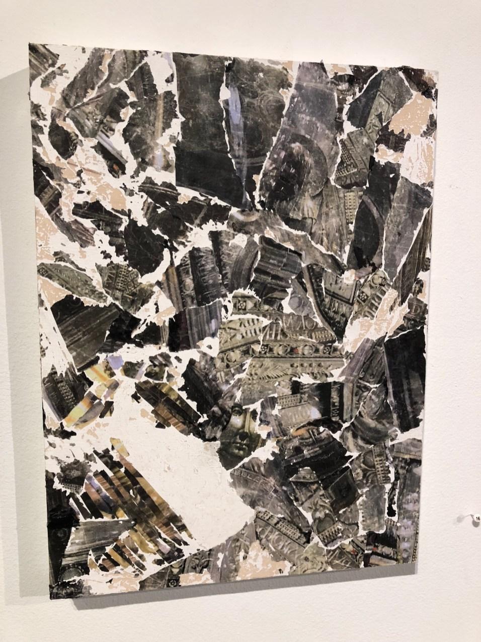 "Black Madonna Study I, 2018, 9"" x 12"", acrylic medium and pigment ink"