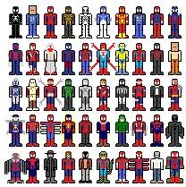 pixel people Spider-man costumes-bmp (2)