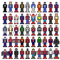 pixel people Spider-man costumes-bmp (2)