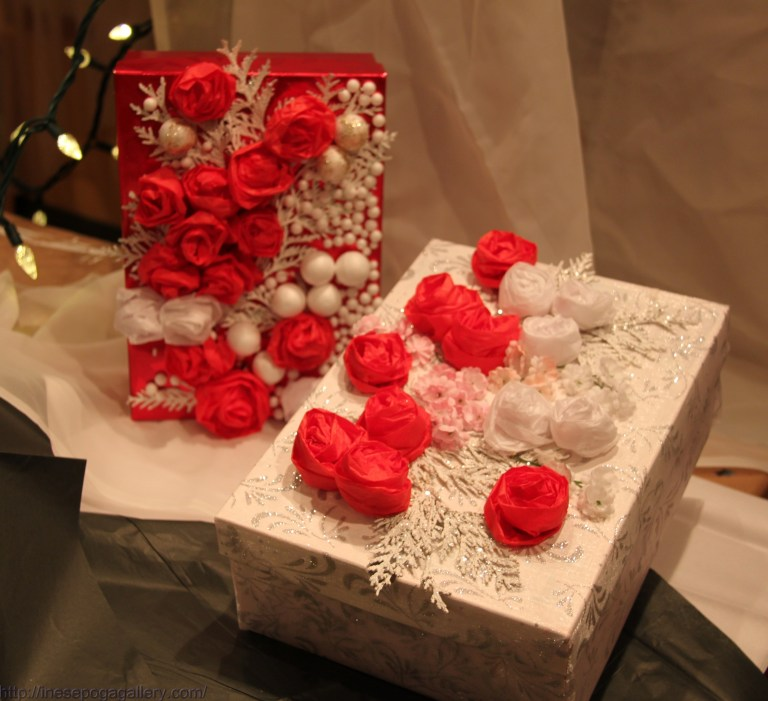 Crafted Christmas gift boxes