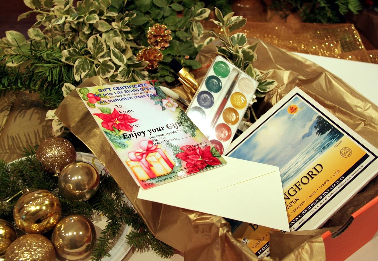 Gift certificate for art classes