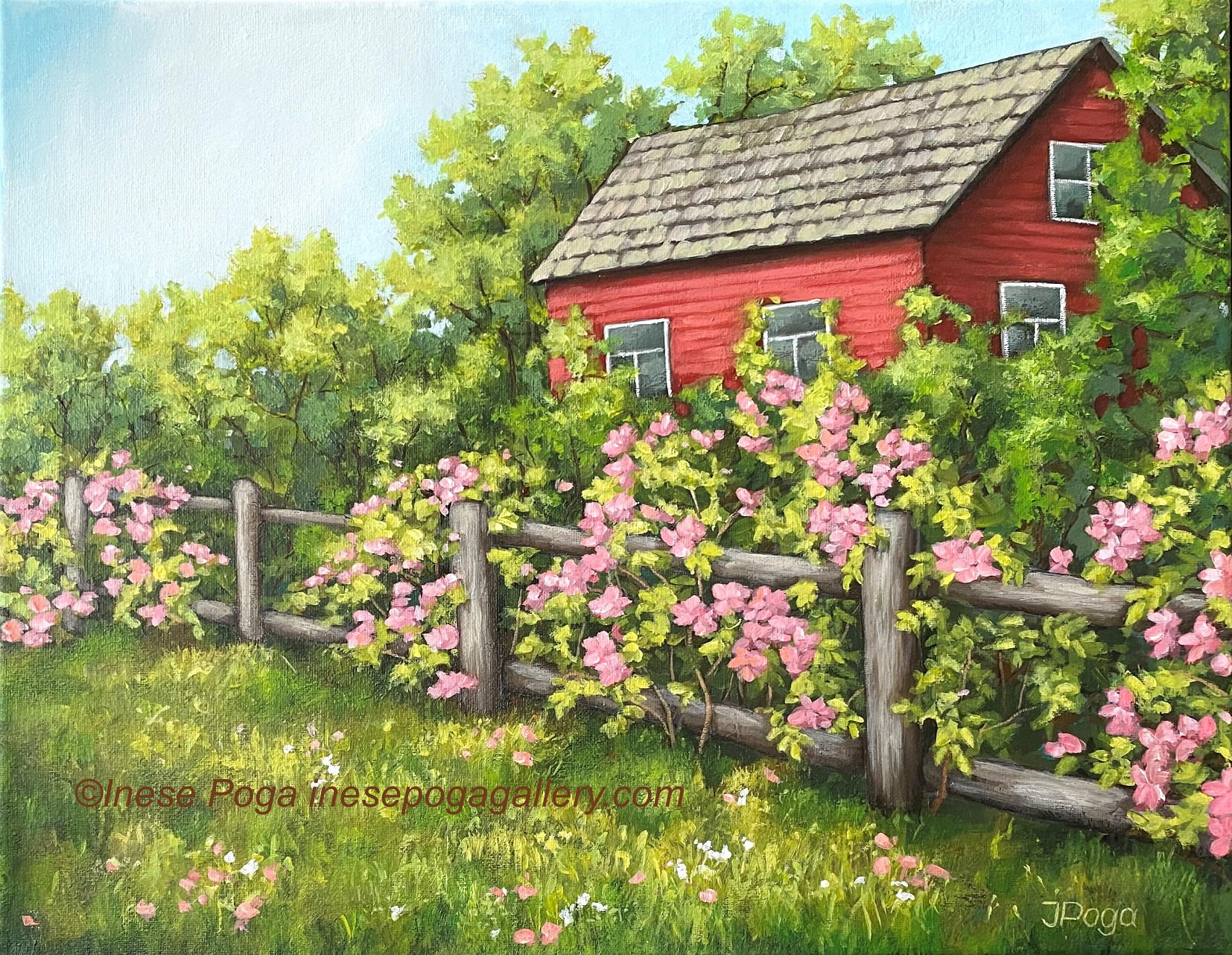 First painting of Summer place series and more daisies
