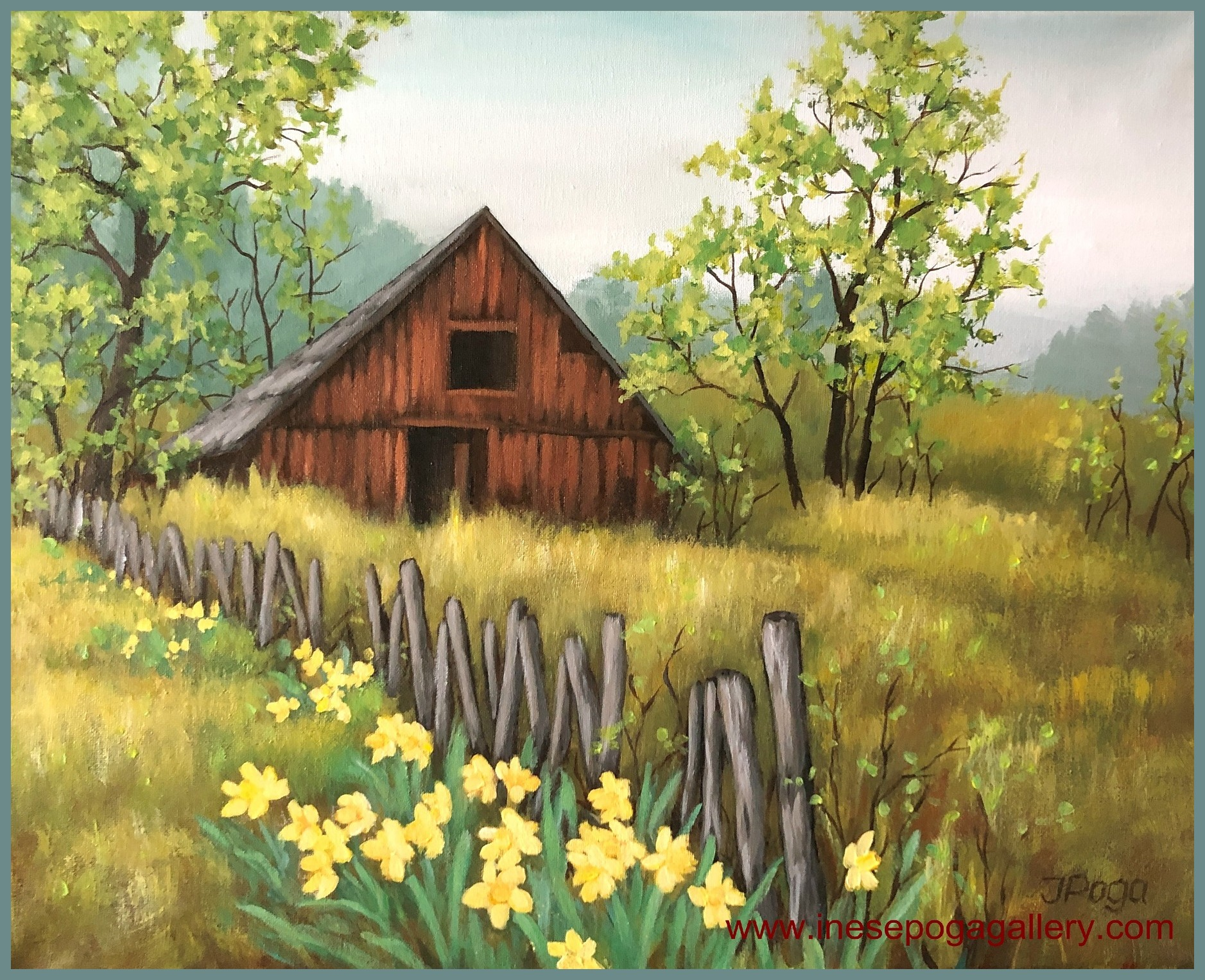 Spring paintings in acrylic