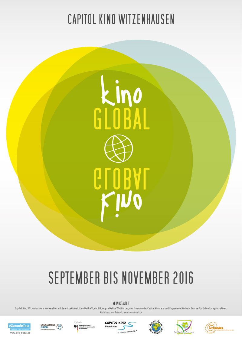 Kino Global – Filmreihe. Logo, Flyer, Plakat