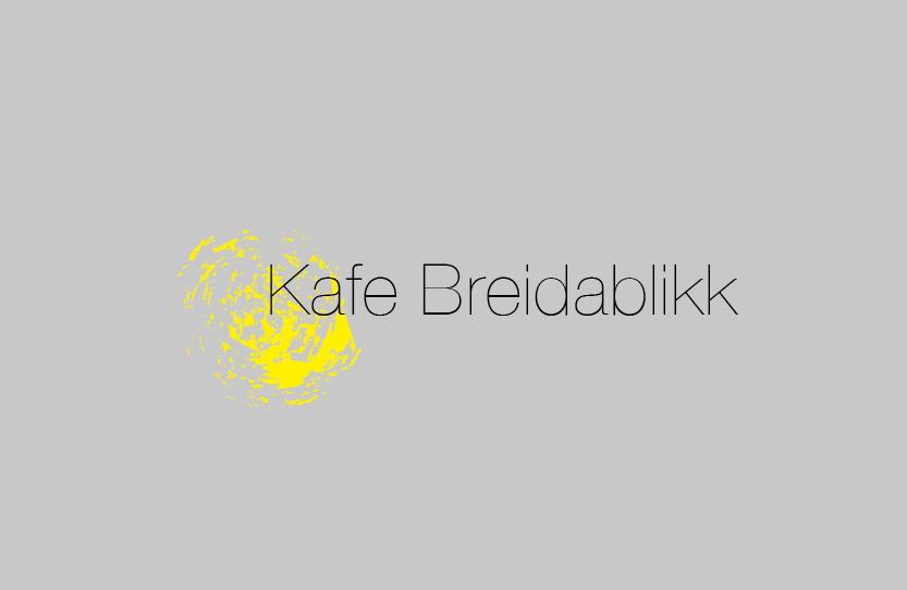 Kafe Breidablikk. Logodesign, Geschäftsausstattung, Webseite