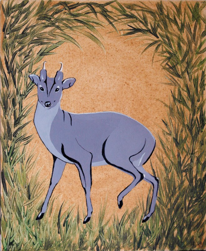 Muntjac deer by Inessa Demidova