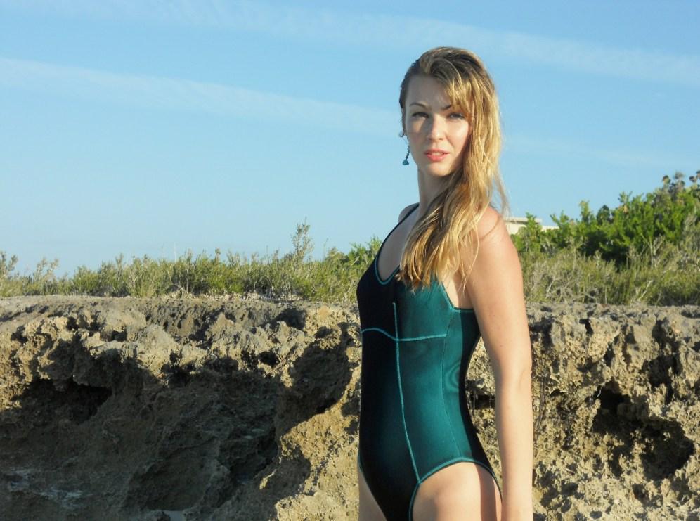 Cuba, beach, girl in a bathing suit