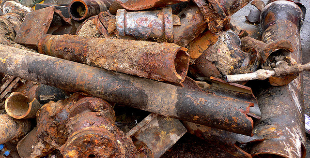 Broken water main pipes