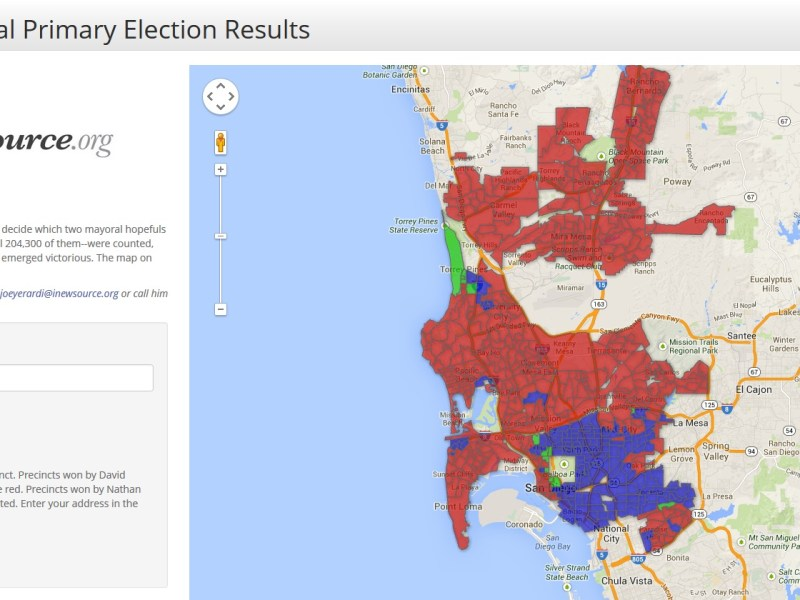 San Diego mayoral primary map
