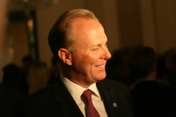 Councilman Kevin Faulconer thanks his supporters/ Nicholas McVicker/ KPBS