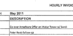 "Invoice shows Taylor billed the Poway school district to review ""Americare Offer"" in 2011."