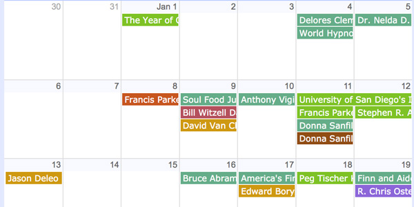 proclamations calendar