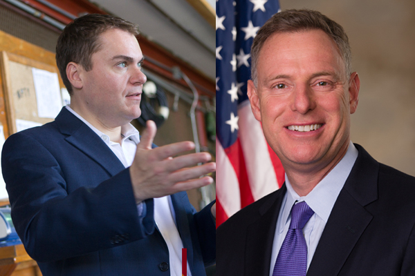 Republican Carl DeMaio (l) and Congressman Scott Peters.