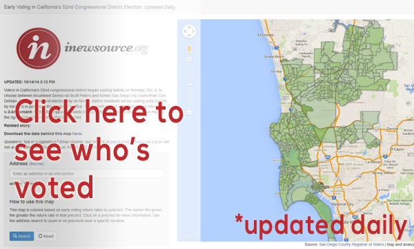 Link to the ca-52 early voting map