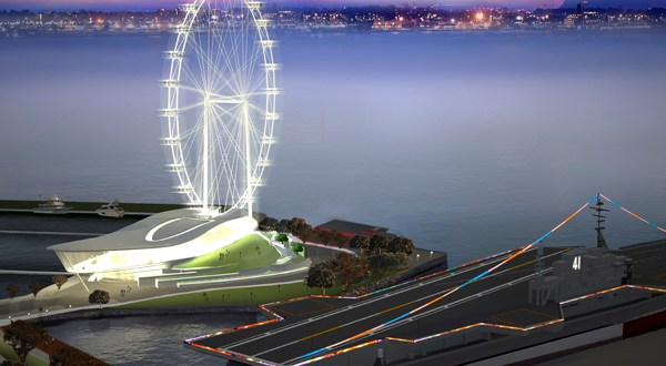 Ferris wheel on San Diego's bayfront?